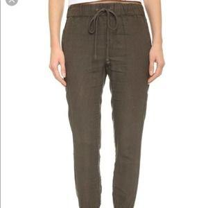 ENZA COSTA Linen Drawstring Pants Size 0 Women's